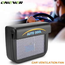 Onever 0.3W Universal Auto Solar Sun Power Car Window Cooler Auto Air Vent Cool Fan Energy Saving Ventilation System Radiator