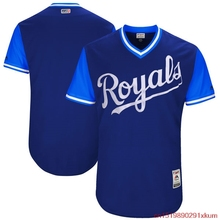 MLB Men's Kansas City Royals Baseball Navy 2017 Players Weekend Authentic Team Jersey(China)