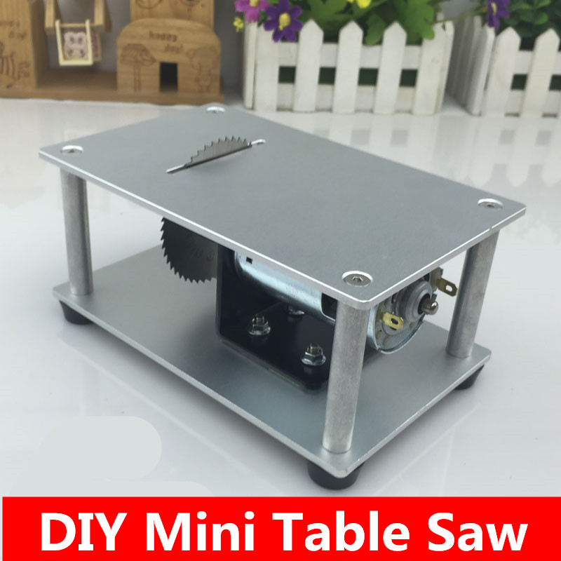 Micro table saw mini saws cutting machine 775 motor DIY Tool speed adjustable hand tool set<br>
