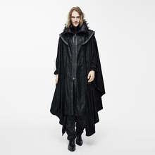 Devil Fashion Steampunk Men Long Cloak Coats Punk Gothic Halloween Dark Vampire Count Bat Cape Casual Hooded Loose Overcoats(China)