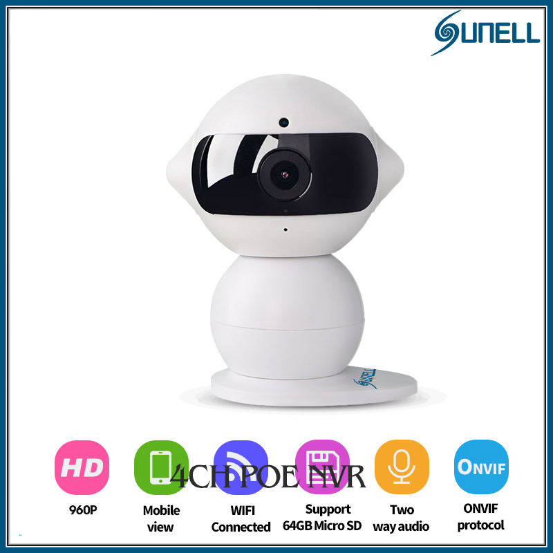 Sunell IP camera  IR 960P mini Robot WIFI camera  AP network security camera Baby Monitor camera Motion detection alarm Remotely<br><br>Aliexpress