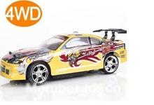 free shipping yellow color rc racing car drift 1/14 REMOTE Control 4WD ELECTRIC Toy
