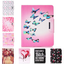 Painted Flip PU Leather Case For Apple iPad 4/3/2 9.7 inch Back Covers Flowers smart Card Slots wallet tablet Shell Capa Housing