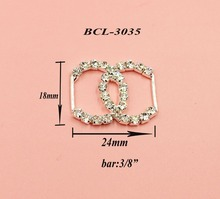 Free shipping 10PCS crystal rhinestone buckle for wedding invitation card decoration(BCL-3035)