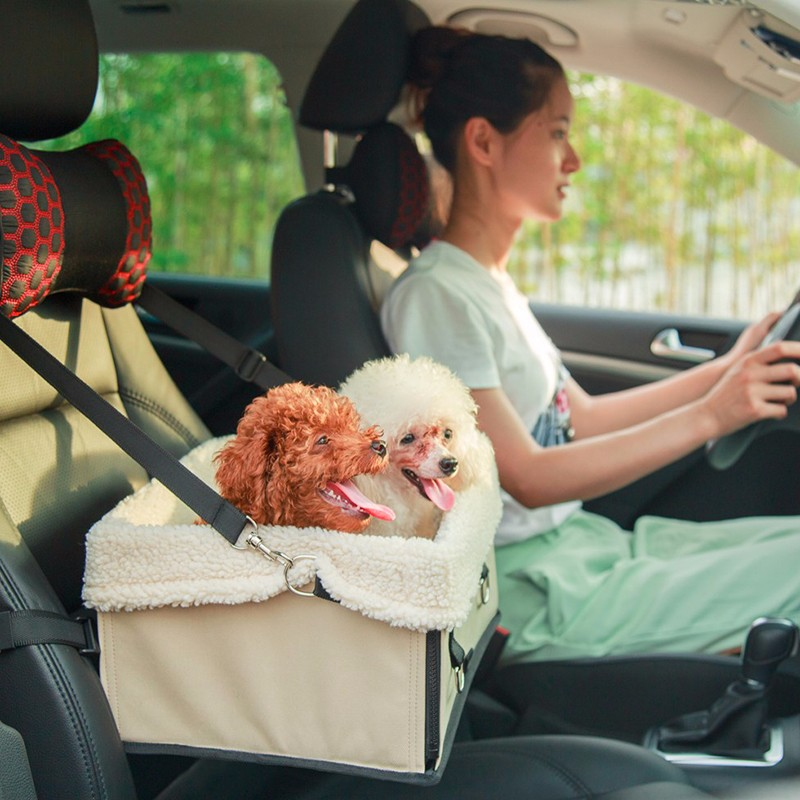 Foldable Dog Bag Car Safety Seat Carrying Puppy Waterproof Oxford Liner Plus Size | DogsMall-International