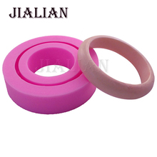 Silicone molds 3D for Handmade bracelet manual Ring doming DIY handcraft baking tools cooking mould cakes pops T0783(China)