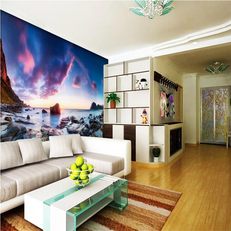 3D wall papers home decor Photo background art Beach photography landscape bathrooms adhesive large wall covering murals-3d<br><br>Aliexpress