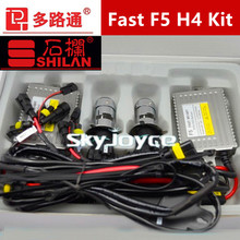 F5 55W fast bright hid kit H4 high low bixenon hid kit hid H4 hi low bi-xenon headlight kit quick start hid xenon kit(China)