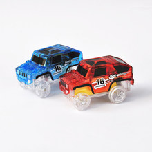 Buy New Glowing Car Racing brinquedos Car Toys 4 LED Cars Glow dark track Juguetes speelgoed kids toys children for $4.49 in AliExpress store