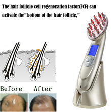 Rechargeable Laser Comb Hair Regrowth Stimulate Treatment Laser Comb Hair Loss RF EMS Head Scalp Massager Repair Hair Massager