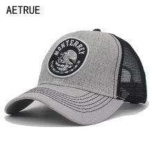 AETRUE Marca Verão Mulheres Homens Boné de Beisebol Snapback Caps Para  homens Casquette Gorras Osso Moda Malha Chapéu Masculino . f1d59ba8b1b