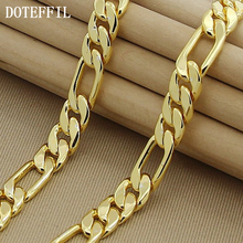 High Fashion 8mm 22-inches Gold Chain Link Necklace Chunky Males Jewelry 24k Vacuum Plating High Quality Free Shipping(China)