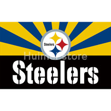 Pittsburgh Steelers digital print Color bar Banner flag 3ft X 5ft polyester Pittsburgh Steelers Flag Banner