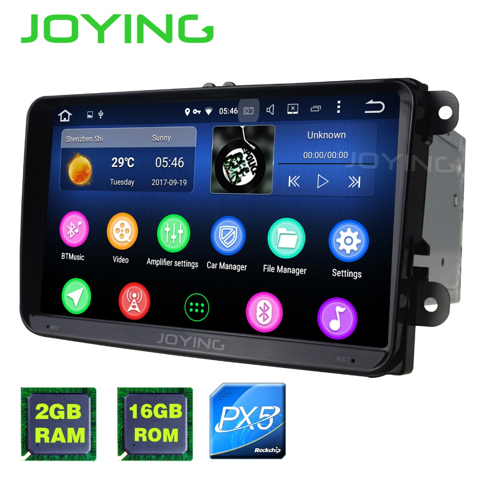 "New Product 9""Joying Octa Core PX5 2GB Android Car Radio Audio Stereo For Volkswagen VW GPS Navigation Tape Recorder Head Unit(China)"