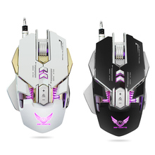 HXSJ USB Wired Competitive Gaming Mouse Mechanical Macro Definition Programming Game Mice Adjustable 3200DPI 7 Buttons LED Light