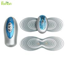 Mini Electronic Muscle Massager Butterfly Body Abdomen Muscle Massager Masaje Pain Relief Fat Slimming Body Shaper Tool Blue