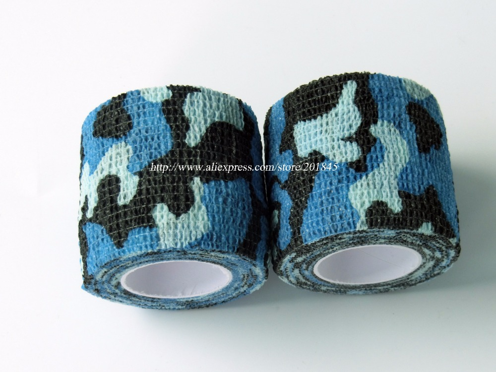 24 Rolls Length Self Adhesive Elastic Camo Bandage Paintball CS War Game Airsoft Hunting Shooting Camouflage Tape 4.5m*5cm<br>