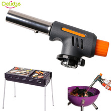 Delidge 1 PC Barbecue Igniter Stainless Steel+Plastic Lighters Outdoors BBQ Party High Temperature Flamethrower Kitchen Supplies