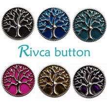 Buy D00158 Wholesale 6pcslot Oil Painting Tree Life Metal Snap Button Bracelet Women Rivca 18mm Charm Snap Button Jewelry for $1.76 in AliExpress store