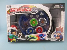Classic toys beyblade metal fusion spinning top gyroscope 4 beyblade for sale alloy gyro plate kit Fight beyblade sets