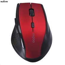 Mouse Factory Price 2.4Ghz 10M brand Optical Wireless Mouse with USB receiver For Laptop Desktop Mouse(China)