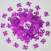 15g Lady Women Men Number Digital 30 Years Old Sprinkle Metallic Confetti Table Scatter Adults Happy Birthday Party Decorations