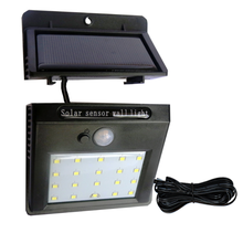 Waterproof 20 LED Split Solar Panels Power PIR Motion Sensor LED Garden Light Outdoor Pathway Sense Solar Lamp Wall Light