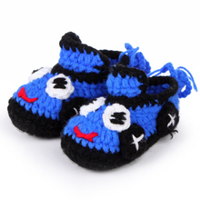 Hand Crocheted Baby Footwear Cartoon Design Boy Toddler Booties Infant Boots First Walker Shoes 10pairs/lot XZ014