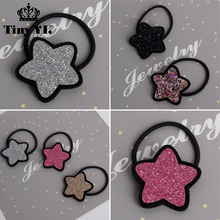 Personality Sparking Star hairpins Lovely Kids Barrettes Hair Rope Decoration Girl Hair Accessory kids hair clips accessories