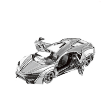 Super car model kit laser cutting 3D puzzle DIY metal car model jigsaw free shipping best gifts for kids educational toys(China)
