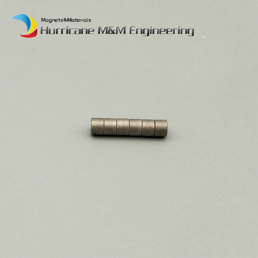1 pack Grade YXG24H SmCo Magnet Disc Diameter 4x3 mm 350 degree C High Working Temperature Permanent Magnets Rare Earth Magnets<br>
