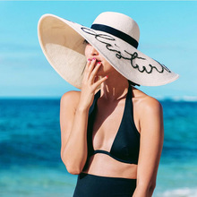 2017Women Do Not Disturb Ladies Straw Floppy beach Hat Large Brim sequin Letter Straw Sun Hats Summer Vocation cap Gorras JY-275