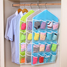 16 Pockets Hanging Bag High Quality Durable Clear Door Hanging Bag Shoe Rack Hanger Practical Storage Tidy Organizer(China)