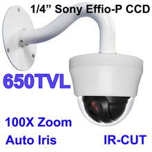 10XZoom 4INCH MINI IR PTZ DOME SPEED CAMERA CCD 650TVL NIGHT VISION,MINI PTZ DOME CAMERA SYSTEM