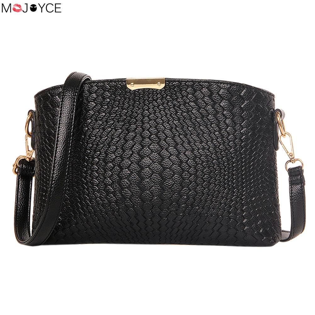 MOJOYCE Women Messenger Bag Vintage Black Women Bag  Shoulder Bags Leather Handbags Crossbody Bolsas Satchel  Bolsa Feminina<br><br>Aliexpress