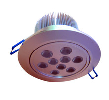 9*1W RGB LED downlight;DC12V input;with 4 wire PWM driver inside;size:D138*70mm,cut hole:D80mm