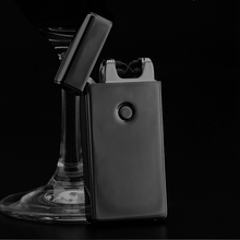 Signature Custom Name USB Lighter Rechargeable knife electronic lighter Cigarette Plasma Personal Cigar Lighter Dual Arc Palse(China)