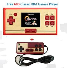 "2017 NEW RS-20 Classic Retro Game Console Handheld Portable 2.6"" 600 Games Pocket free cartridge 2nd Player Controller for FC(China)"