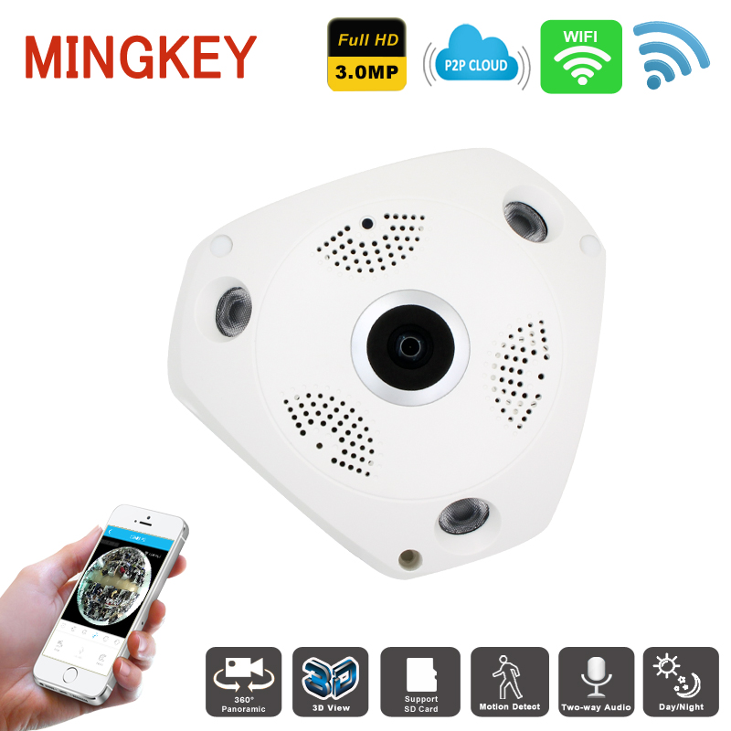 3.0MP Wifi 360 degree Fisheye IP Camera HD Wireless VR Camera IP Dome Camera Remote View Mobilphone Free Smartphone APP Co., Ltd.)
