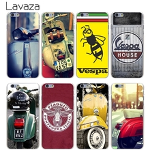 Lavaza Vespa Scooter Hard Transparent Cover Case for iPhone X 10 8 7 6 6S Plus 5 5S SE 5C 4 4S(China)
