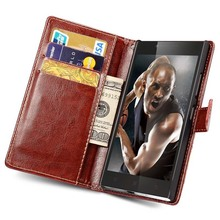 For Lenovo P70 Flip PU Leather Wallet Case For Lenovo P70 With Card Holder Photo Frame Stand Design Coque Cellphone Cover(China)