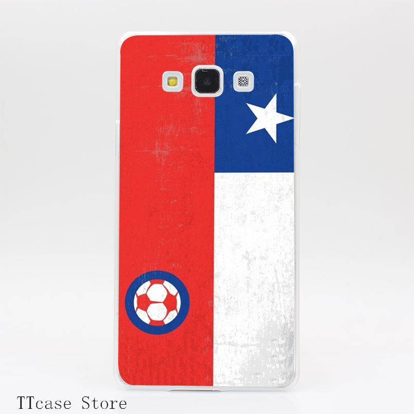 3185CA Soccer Flag Transparent Hard Cover Case for Galaxy A3 A5 A7 A8 Note 2 3 4 5 J5 J7 Grand 2 & Prime
