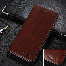 Genuine Leather Magnetic Auto Flip Card Holder Case For 1+1 Oneplus One Original Brand Cell Phone Case