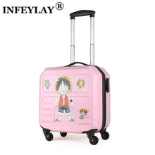 14 inches creative computer case girl students ABS+PC trolley case woman Travel luggage suitcase business Boarding box kids gift(China)