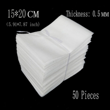 15*20cm (5.91*7.87 inch) 0.5mm 50Pcs Protective EPE Foam Insulation Eva Foam Sheet Cushioning Packaging Pouches Packing Material