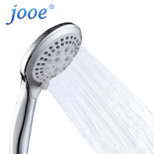 jooe hand hold Shower Head 30% Water Saving 300% High Pressure 5 Functions ABS chrome Bathroom Accessories Medical Showerheads