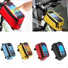 Waterproof Bicycle Frame Unisex Bike Top Tube Bag with High Sensitive Touch Screen Multi-function Smartphone Bag up to 5.5 inch(China)