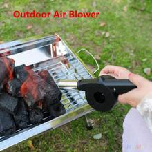 Outdoor BBQ Picnic Cooking Tools Kits Treatment Fan Fire Air Blower For Camping Hiking