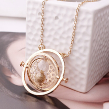 5 Color Sand Clock Gold Color Necklace Hourglass Fashion Vintage Hermione Granger Pendant Valentines Day Gift wholesale