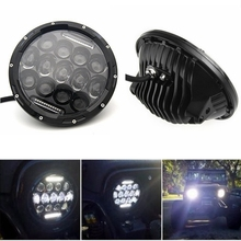 2016 New 7Inch 75W 7500LM Hi/Low Beam Car LED Headlight Bulb JEEP Wrangler Hummer Camaro FJ Cruiser - DP off road&Motor Lights Store store